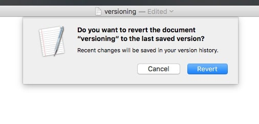 Any time you switch to another version, the one you're working on is saved.