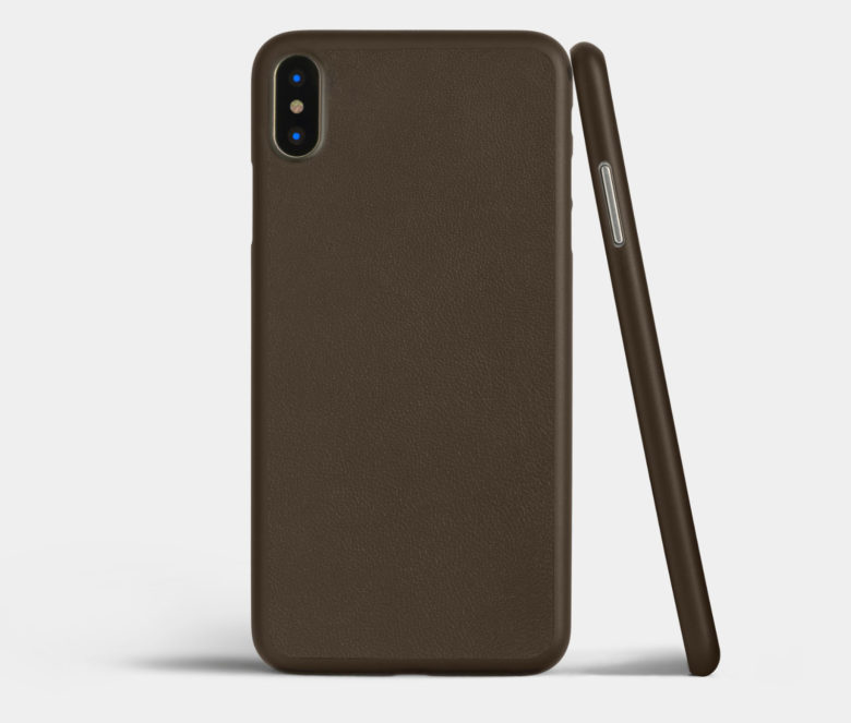 Totallee slim iPhone X brown leather case