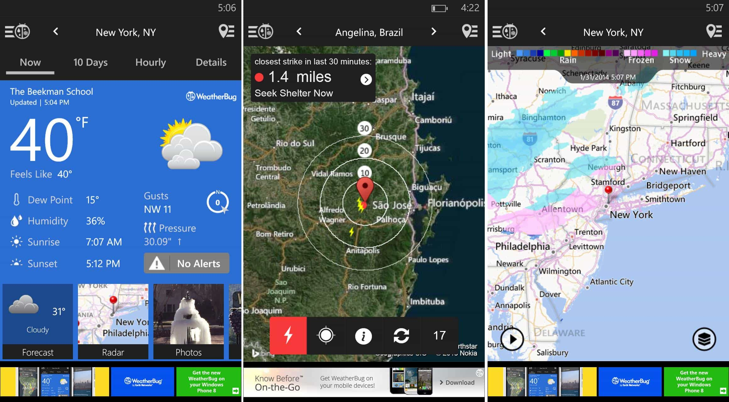 Free weather app WeatherBug is a perfect storm of features