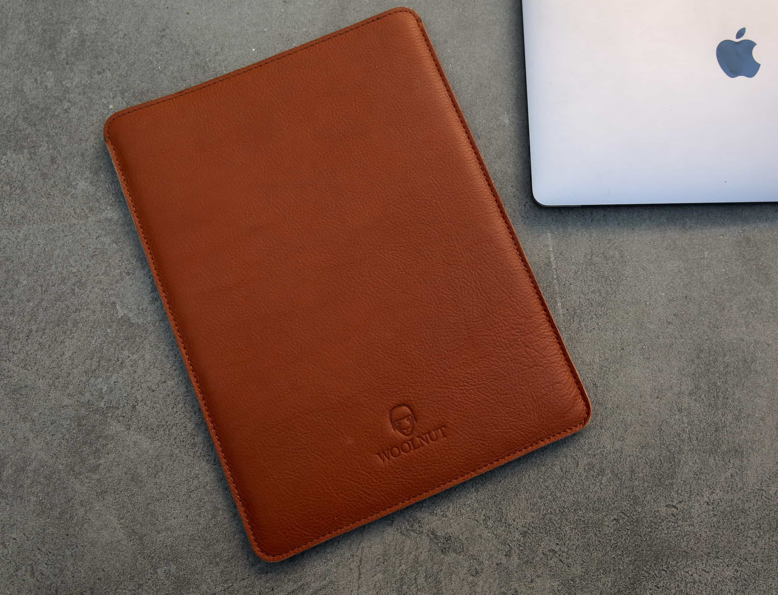 The Woolnut sleeve is pure leather luxury for your MacBook.