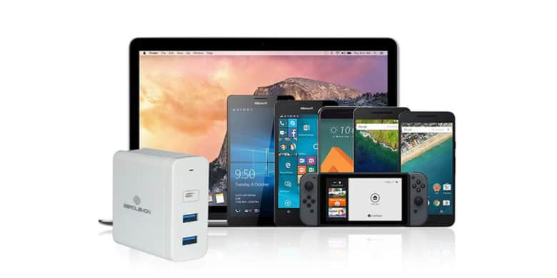 Charge four devices at once, with output tuned to each, thanks to this 'Hifficiency' charger.