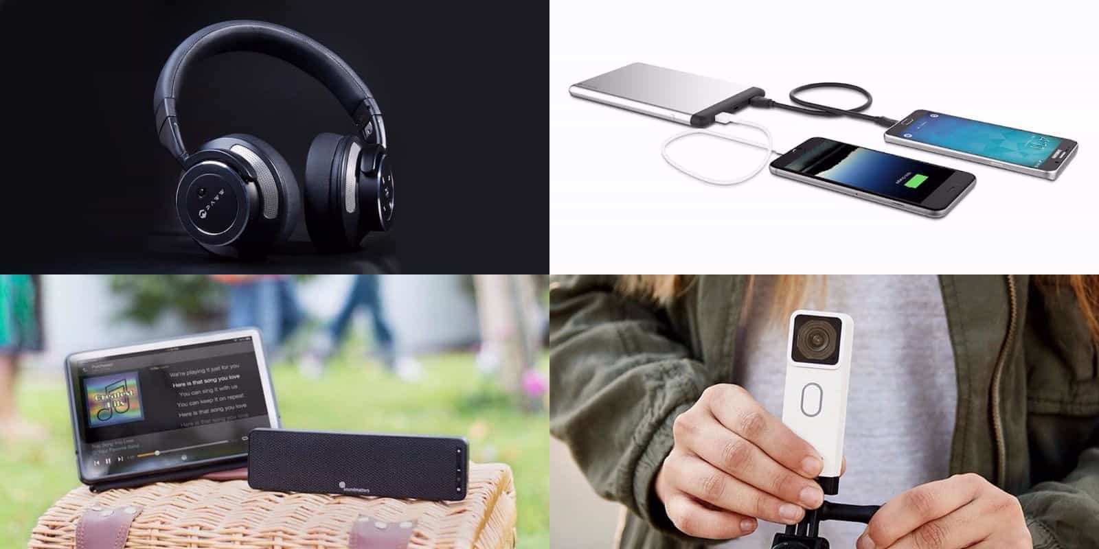 This roundup of gear and gadgets includes awesome audio, video, and charging goodies.