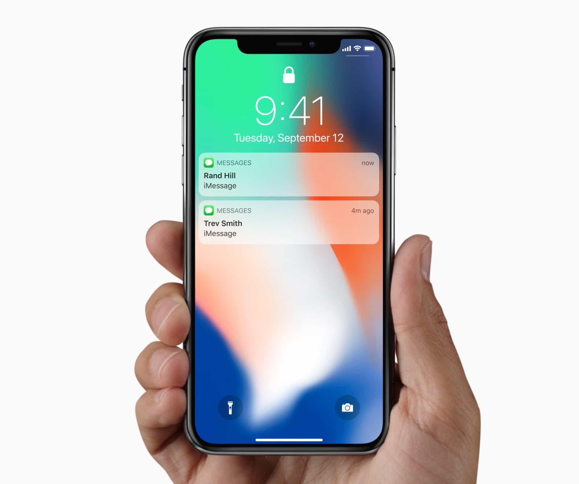 iPhone X lock screen notifications