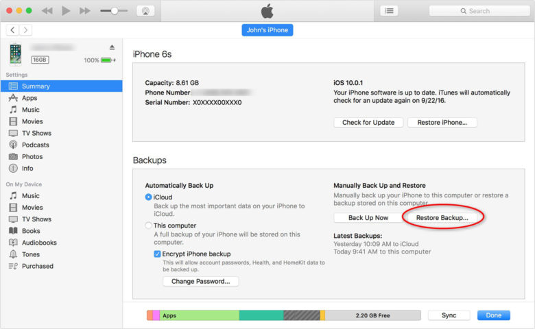 Wondershare dr.fone — iPhone Data Recovery
