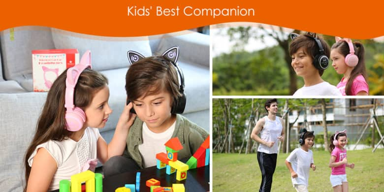 Mindkoo cat ear headphones for kids