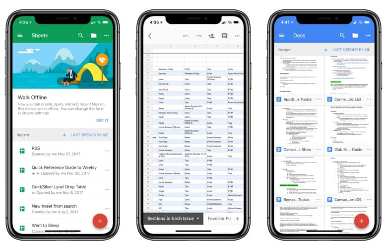 Google-Docs-iPhone-X