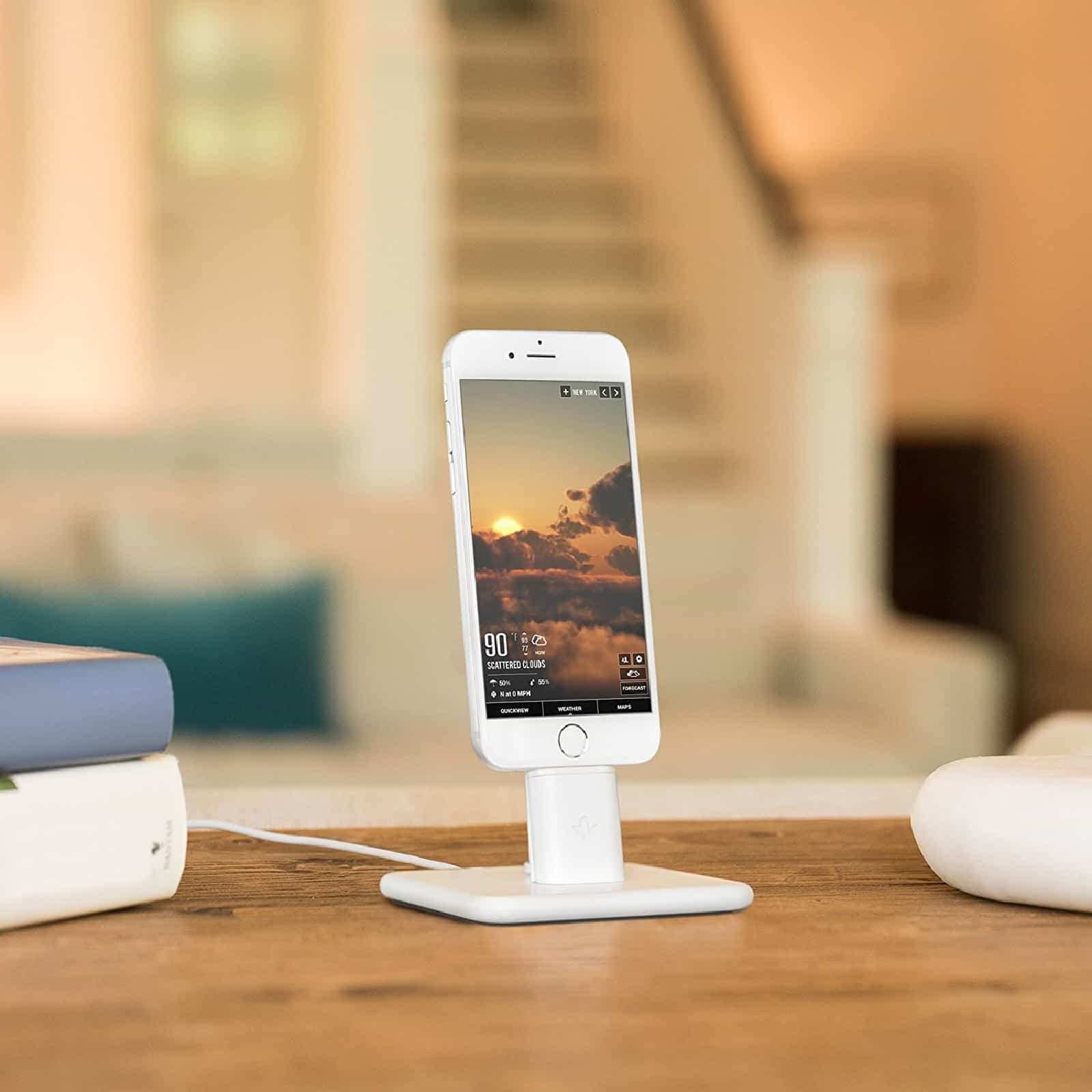 Desk iPhone docks are very convenient.