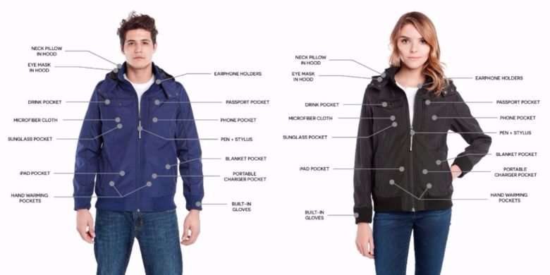 This is outerwear designed for the digital nomad.