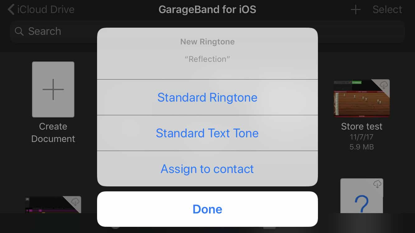 You can assign your new ringtone right away.