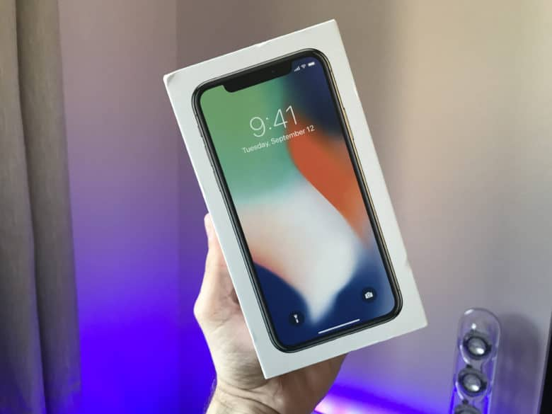 iPhone X in box
