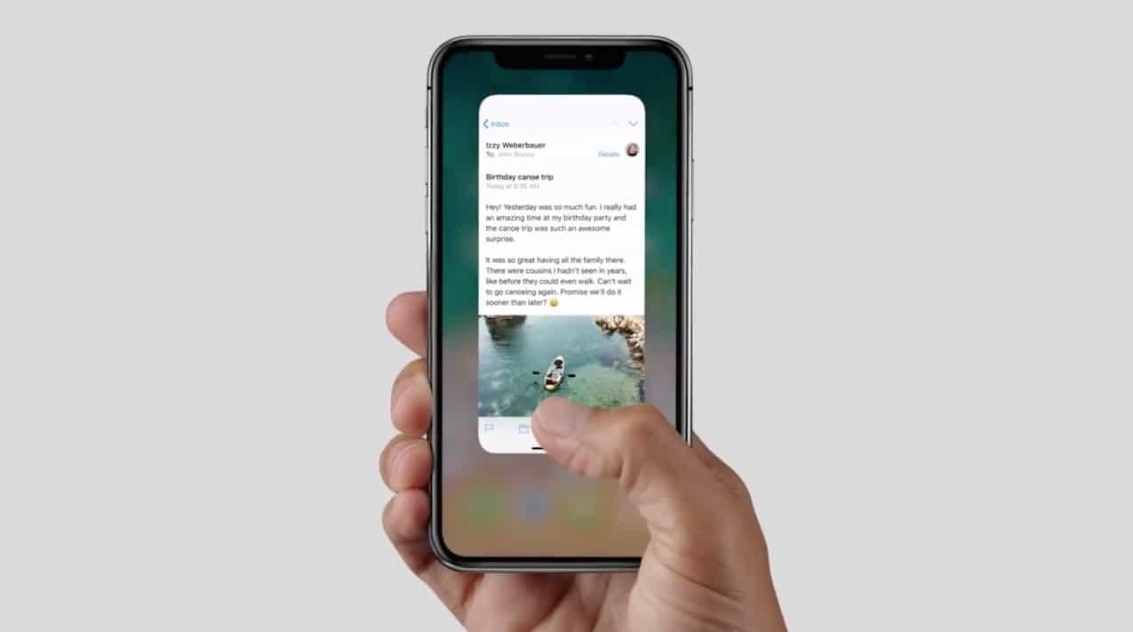 gestures iPhone x