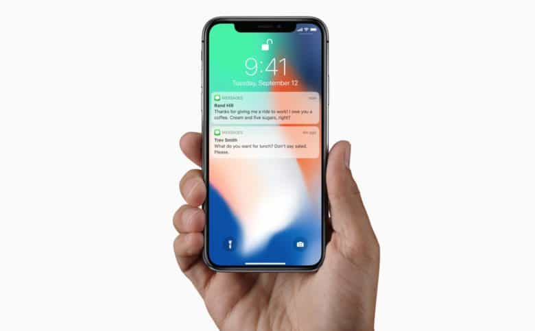 iPhone x notifications face id