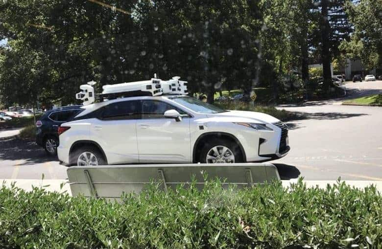 Apple's second-generation autonomous car sensor rack