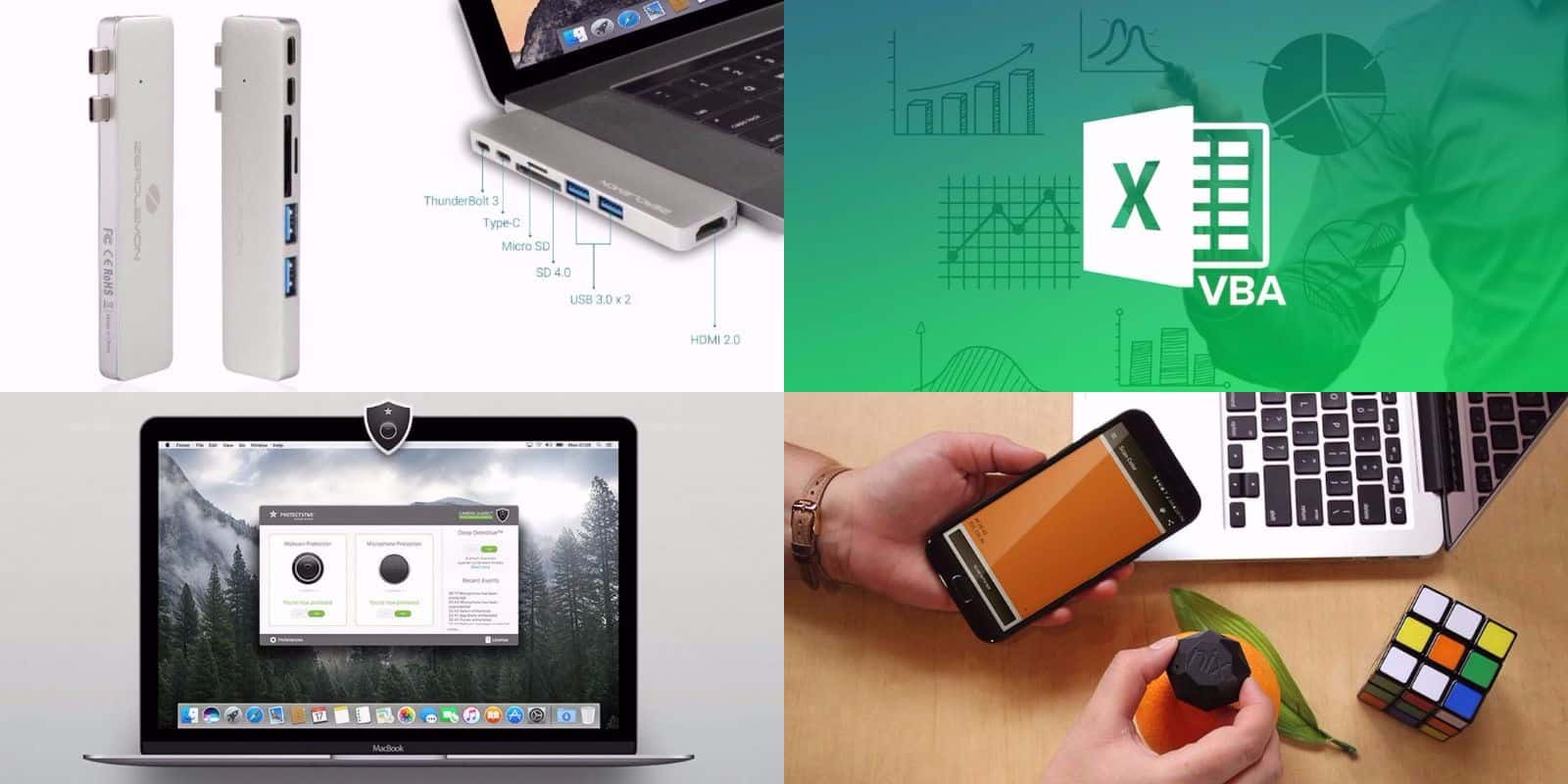 Instantly improve your Macbook's connectivity, security, and more.
