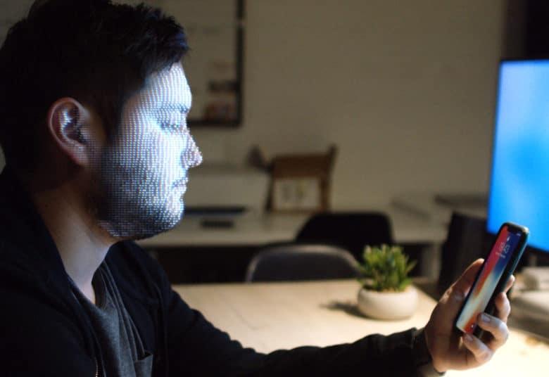 faceID Face scan mockup Unused