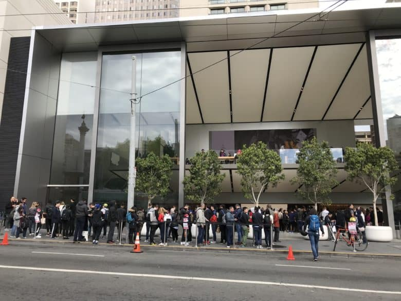 iPhone launch line at San Francisco store