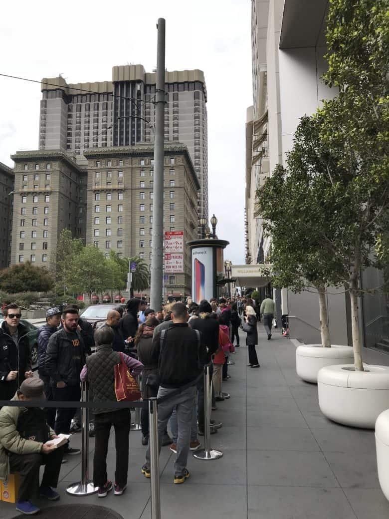 line for iPhone X