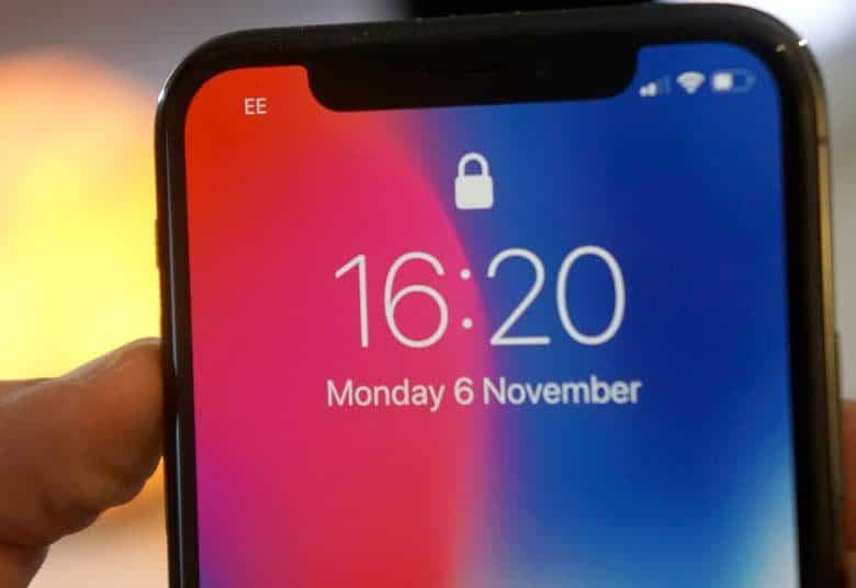 the notch on the iPhone x