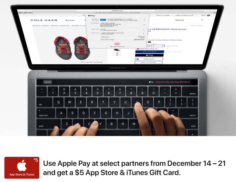 Apple Pay reward 2017