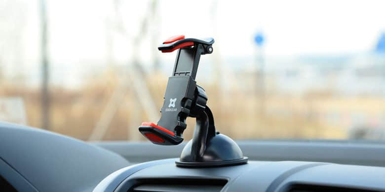 This sturdy iPhone mount is easy to use and a must for safe driving.