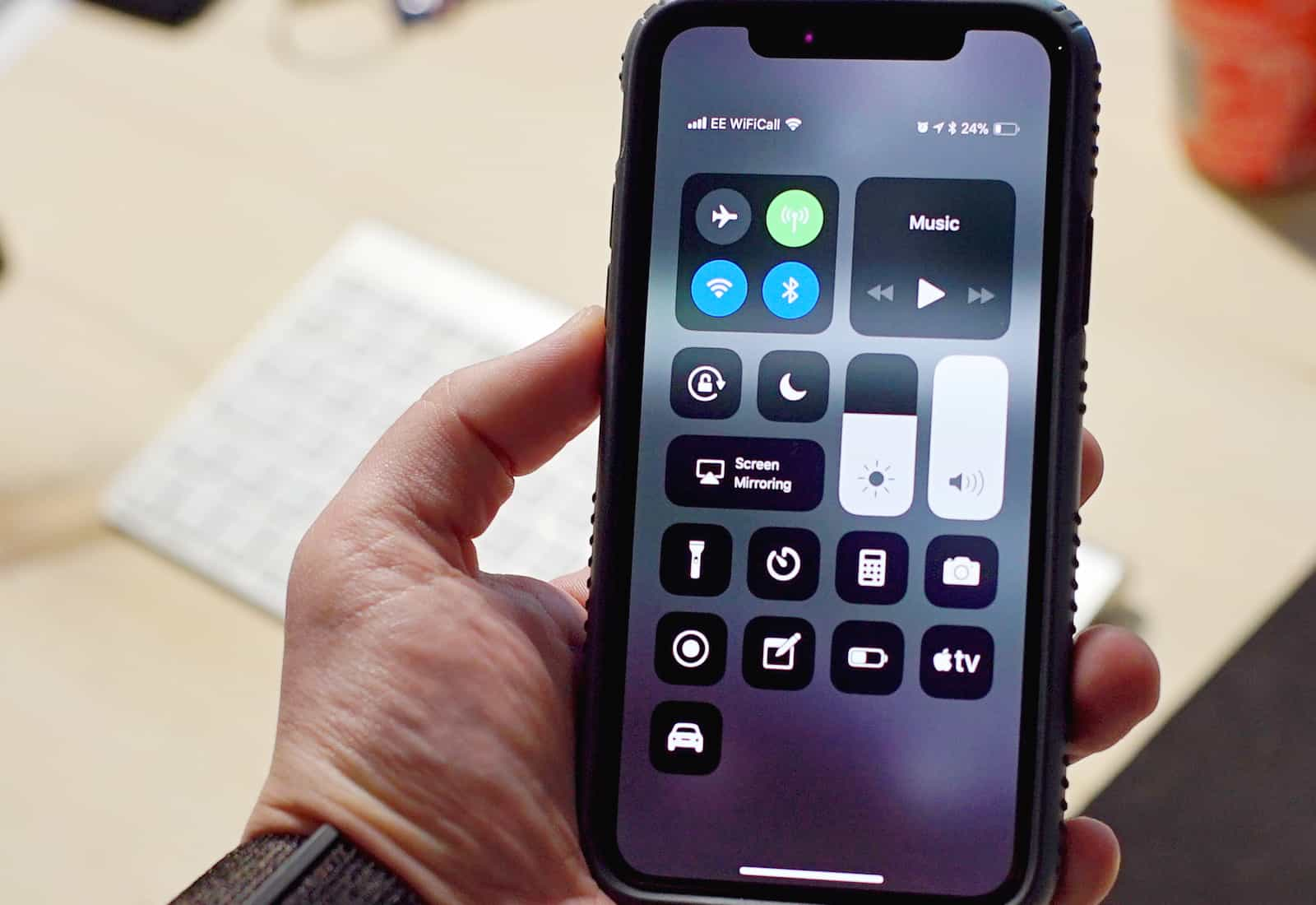 Control Center iPhone X