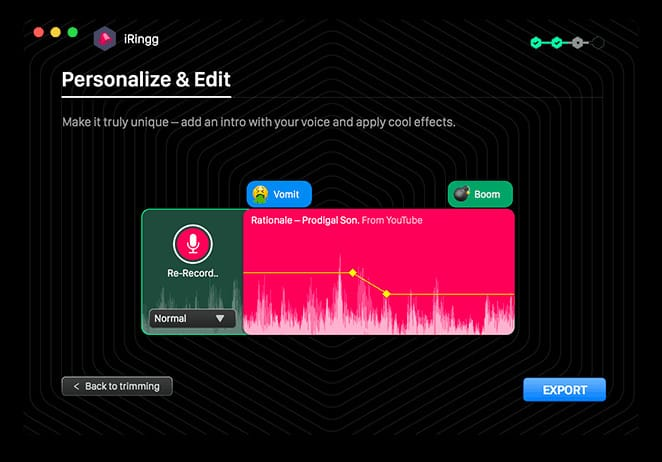 iRingg lets you mess up your ringtones before you use them.