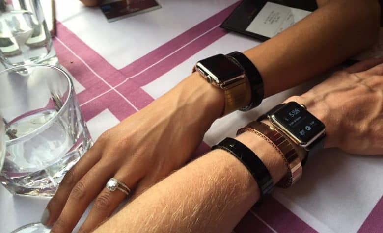Rilee & Lo's gender-neutral Apple Watch bands fit like a glove. Add a few stacking bracelets to complete the look.