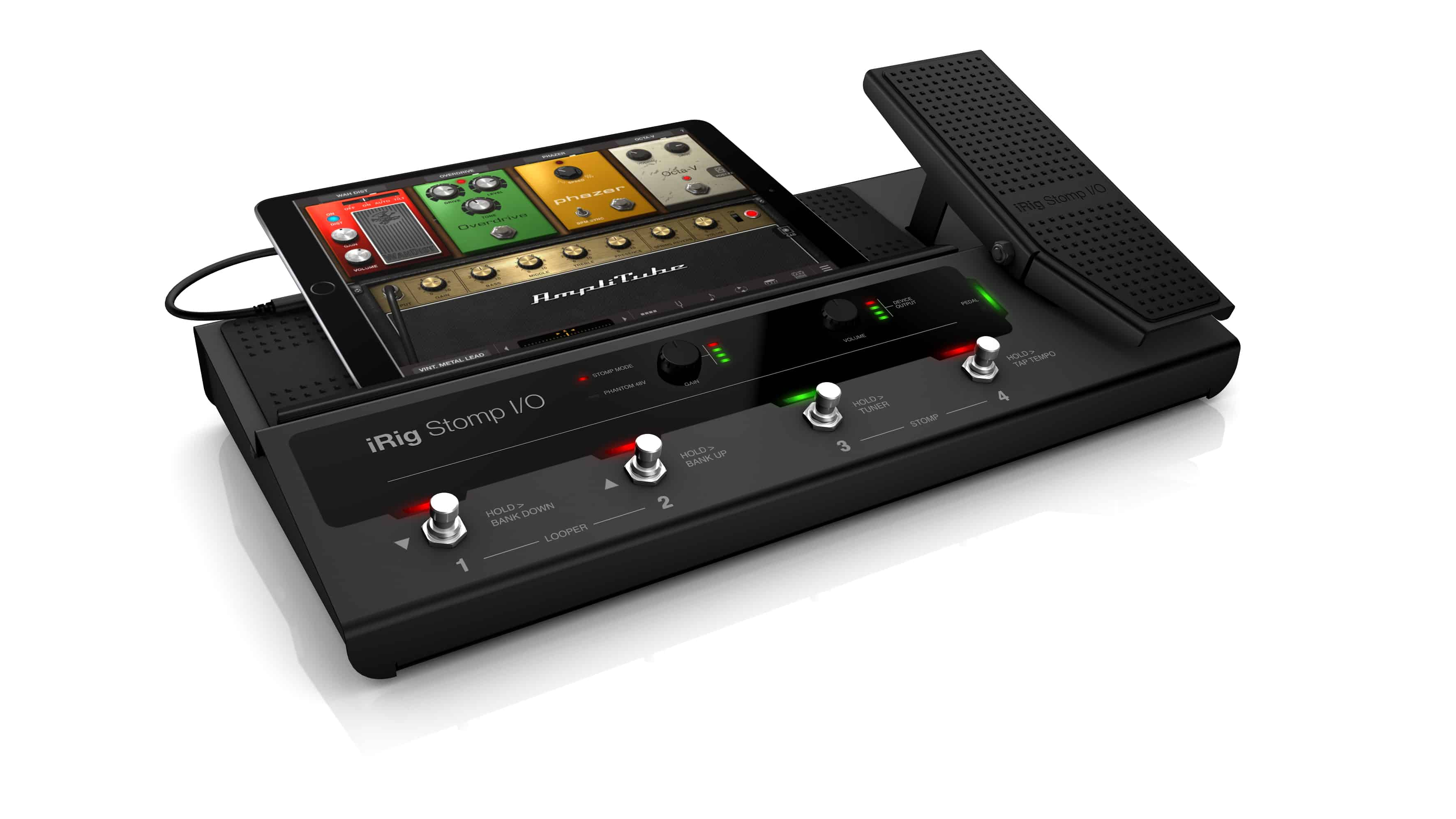 irig stomp i o turns your ipad into a guitar effects pedalboard. Black Bedroom Furniture Sets. Home Design Ideas