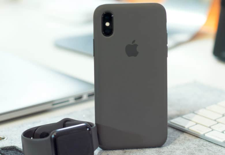 Apple silicone iPhone X case