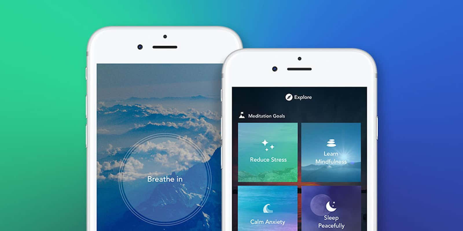 This app can help keep you in the moment, via short, guided meditation sessions.