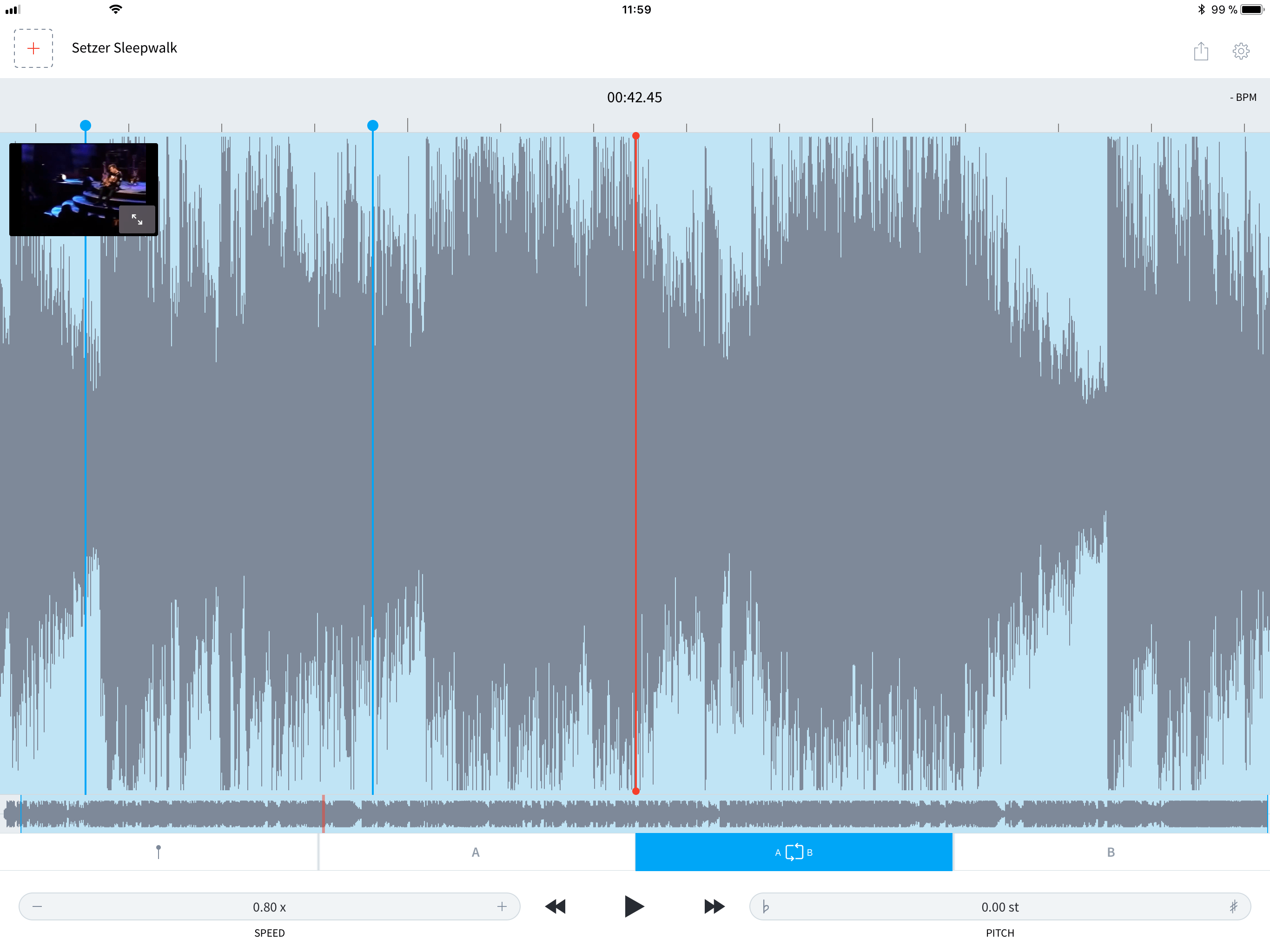 AudioStretch slows down songs and videos to make learning