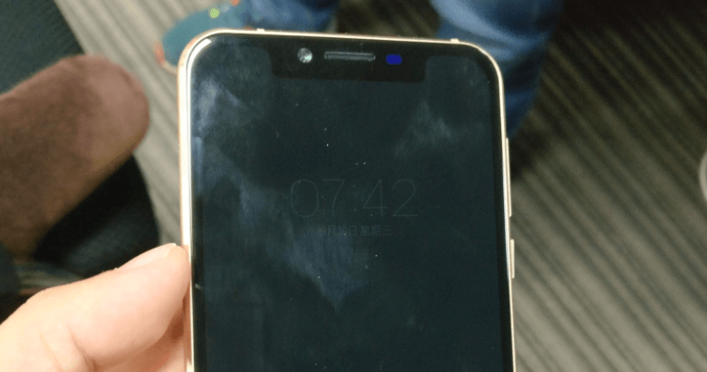 iPhone X notch clone
