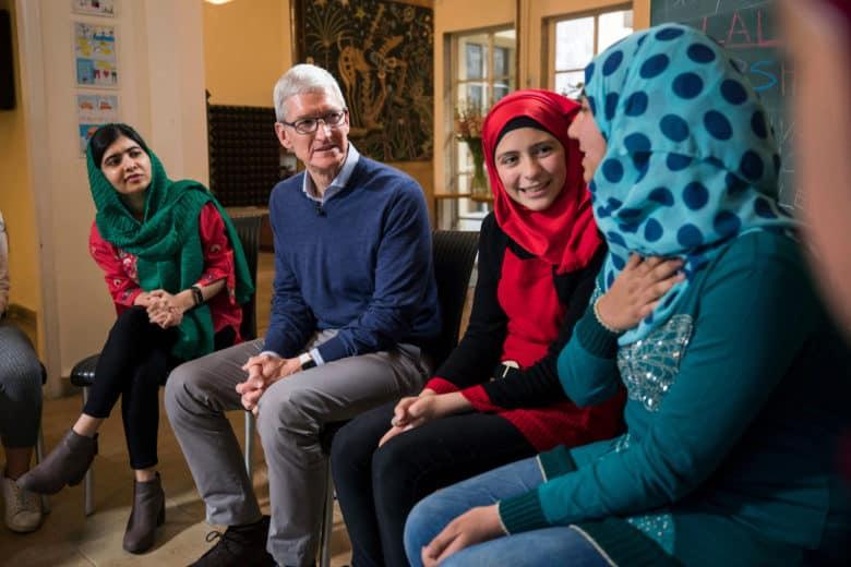 Tim Cook Malala Fund