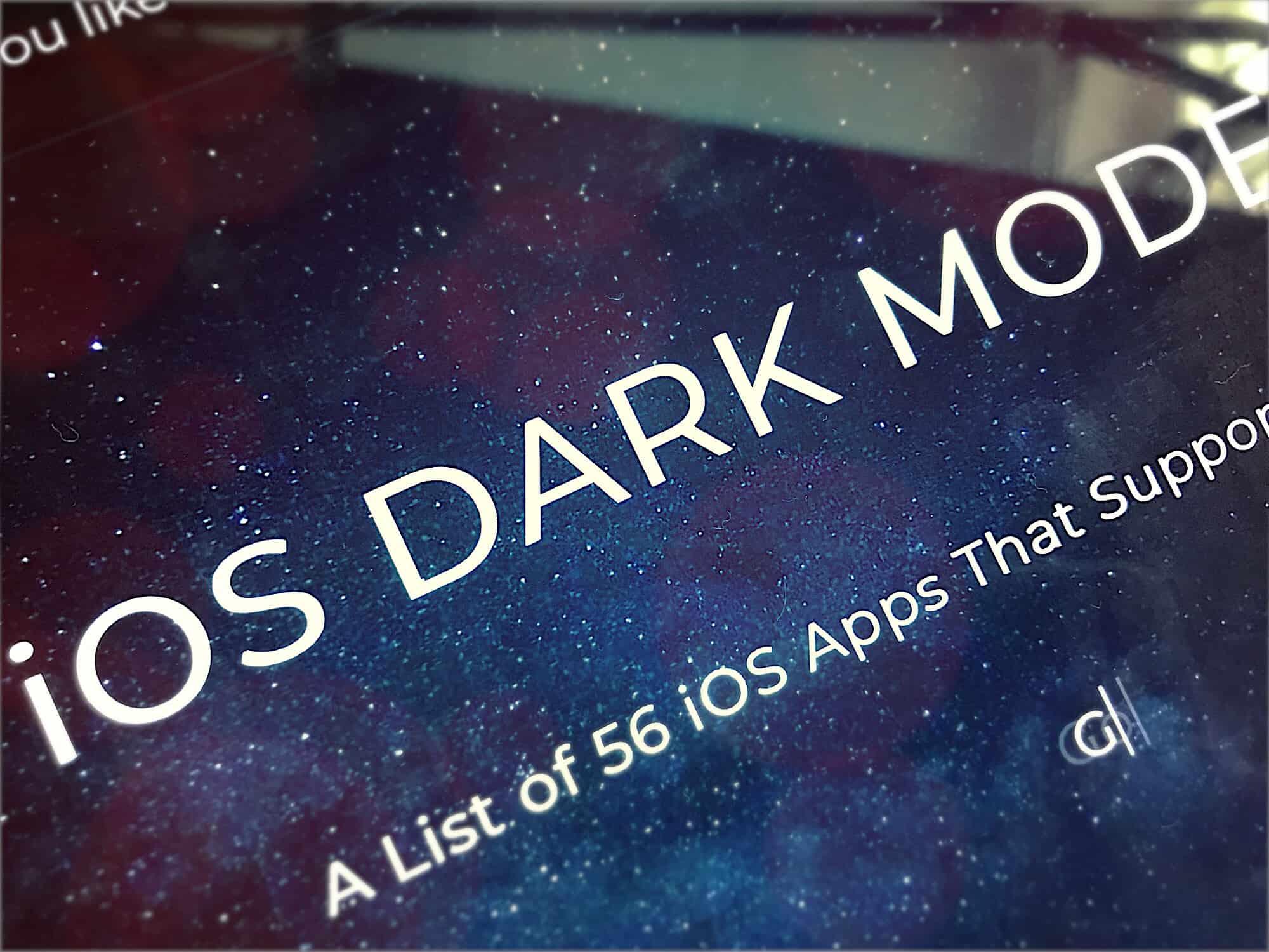 Dark Mode List