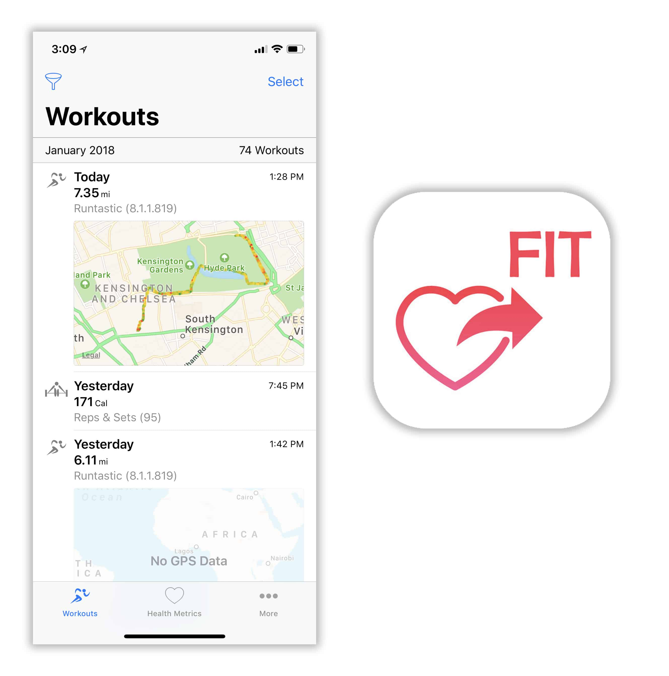 HealthFit provides the missing link to sync Apple Watch with Strava