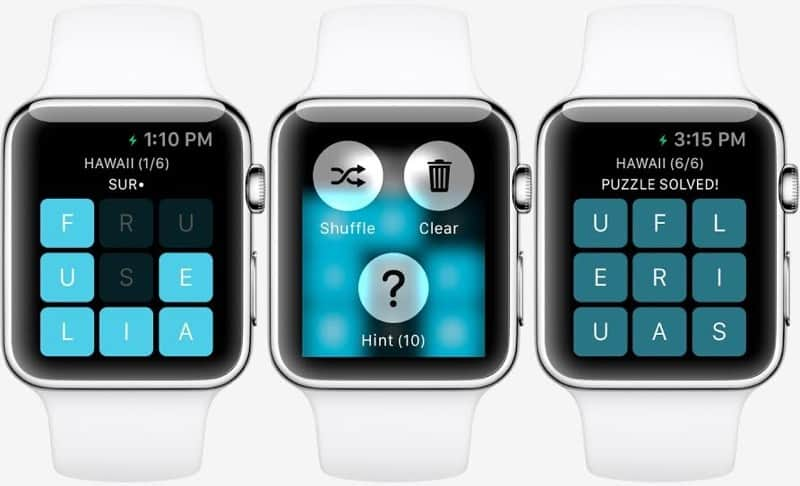 Letterpad was one of the first games we got to see on Apple Watch.