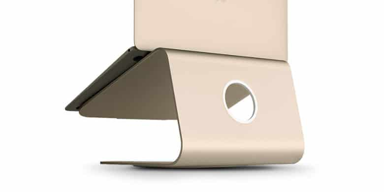 This convenient stand keeps your Macbook at a comfortable eye-level.