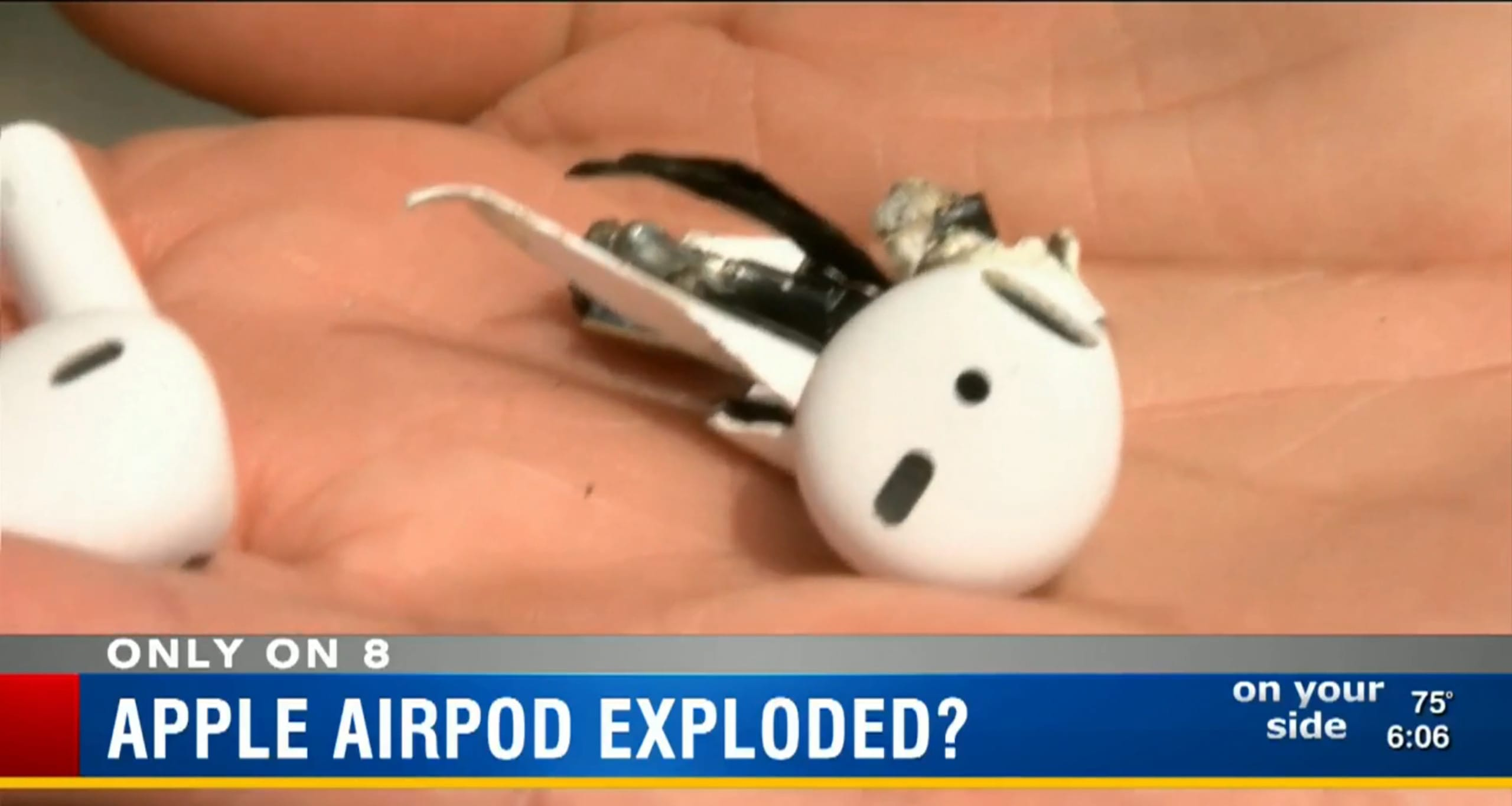 AirPod explodes