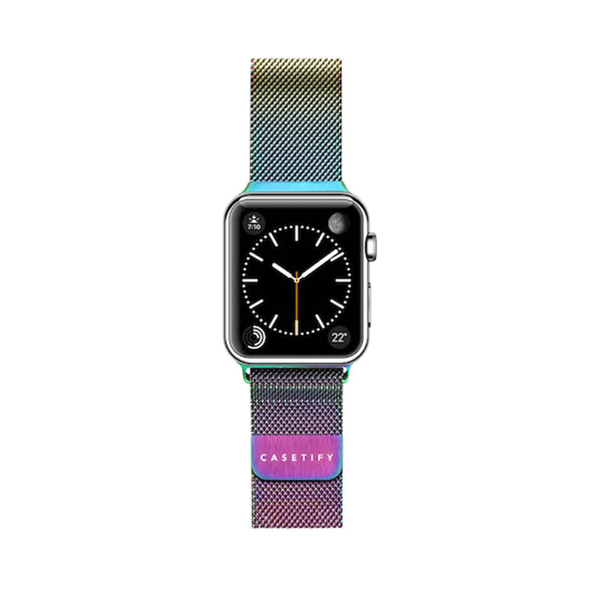This Stainless Steel Mesh Apple Watch Band Shines like a Prism