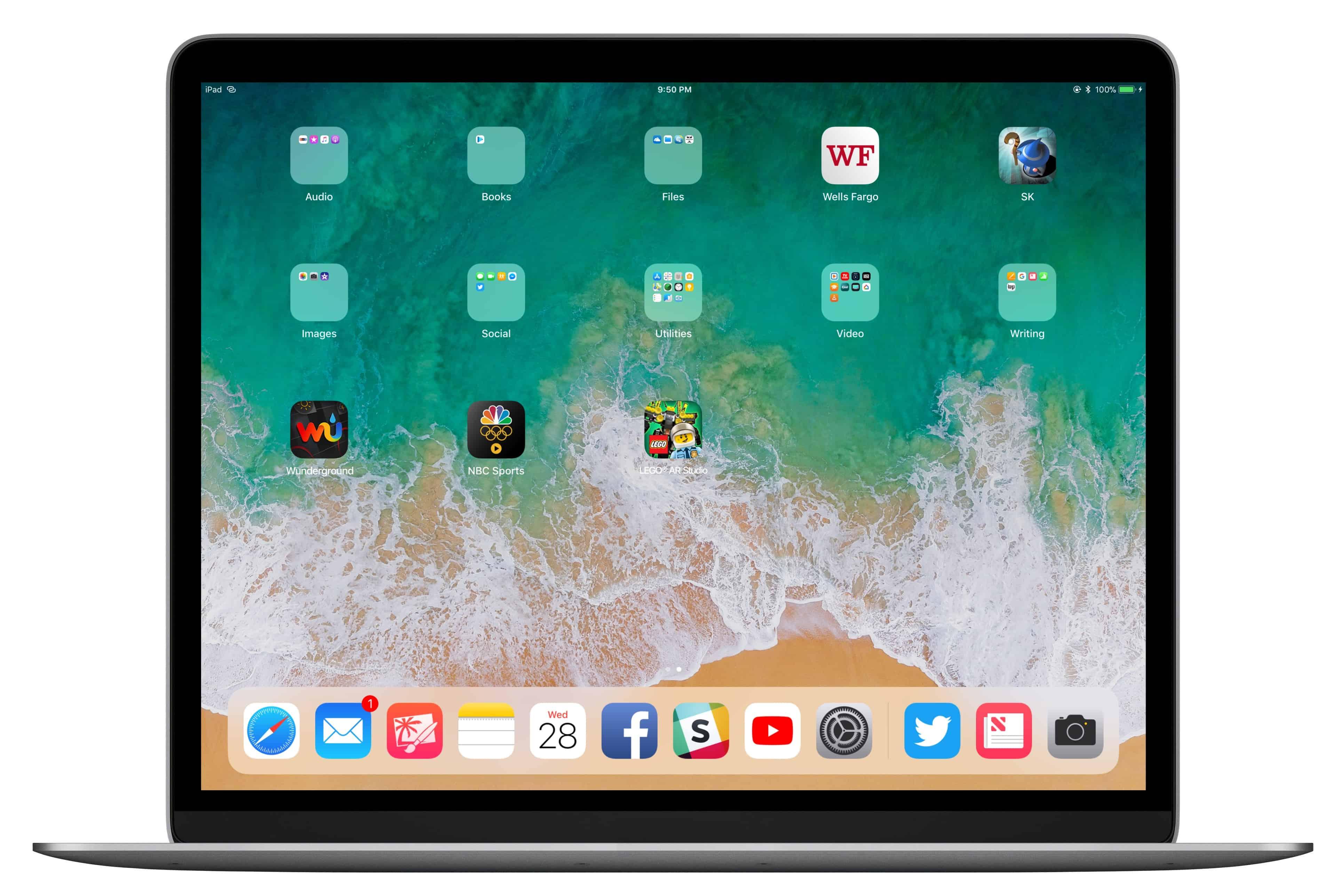 Clamshell iPad
