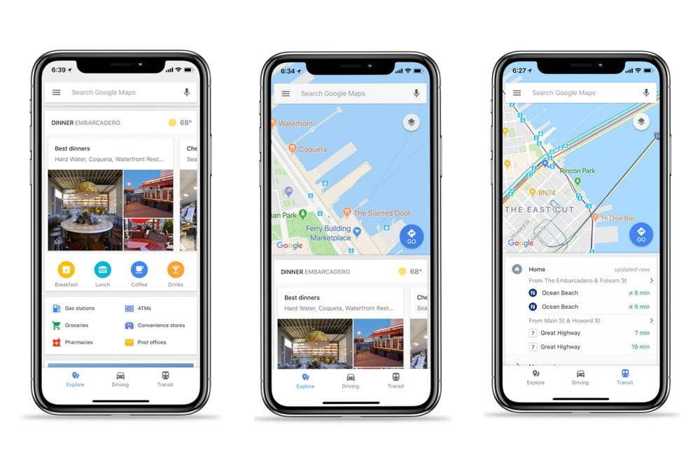 Google Maps Feb 18 update
