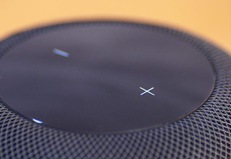 HomePod Volume Controls closeup
