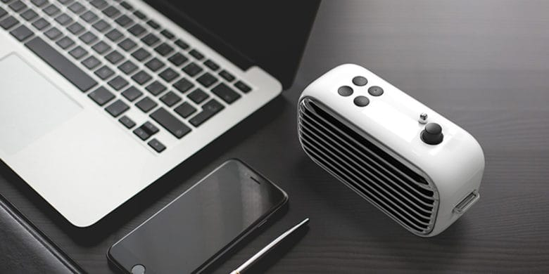 The Lofree Poison is a modern Bluetooth speaker with a retro 1950s style.