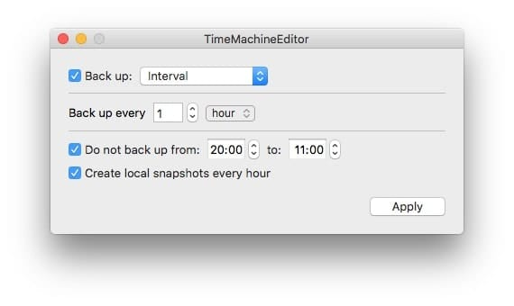 The basic settings let you choose any time period, including one hour.