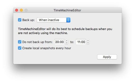 This option backs up whenever you step away from your Mac.