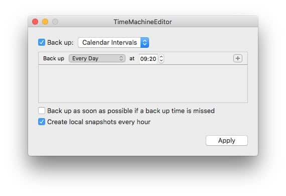 Set as many calendar-based backups as you like.