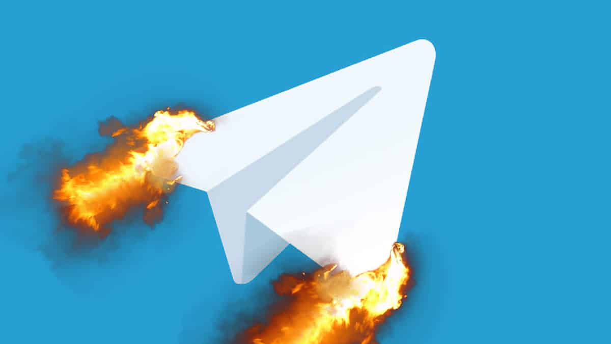 Telegram flames