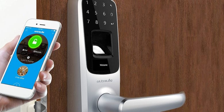 Great for anyone running an Airbnb, this programmable lock opens with private codes, fingerprint ID, and Bluetooth.