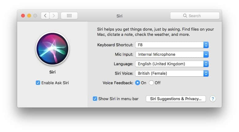 Set a keyboard shortcut in Siri's preferences.