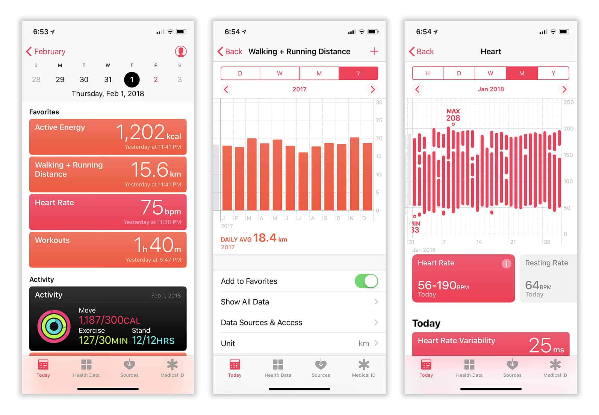 The Health app's Today tab is jam packed with useful data